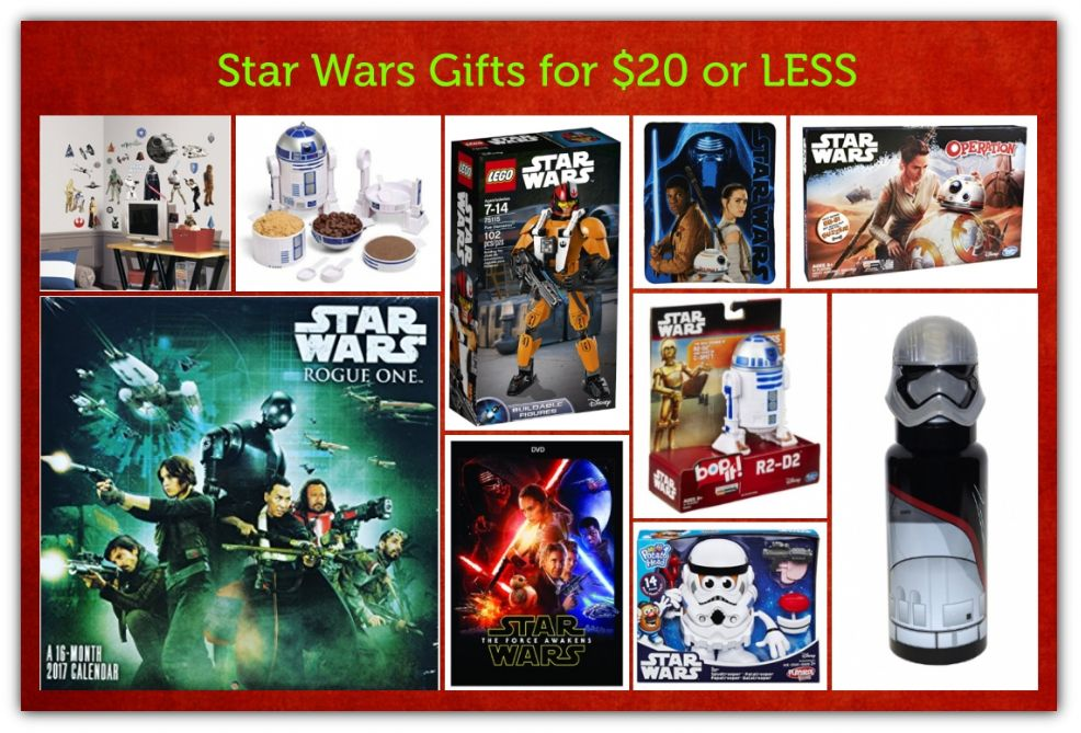 Gifts for Star Wars Fans for $20 or LESS!