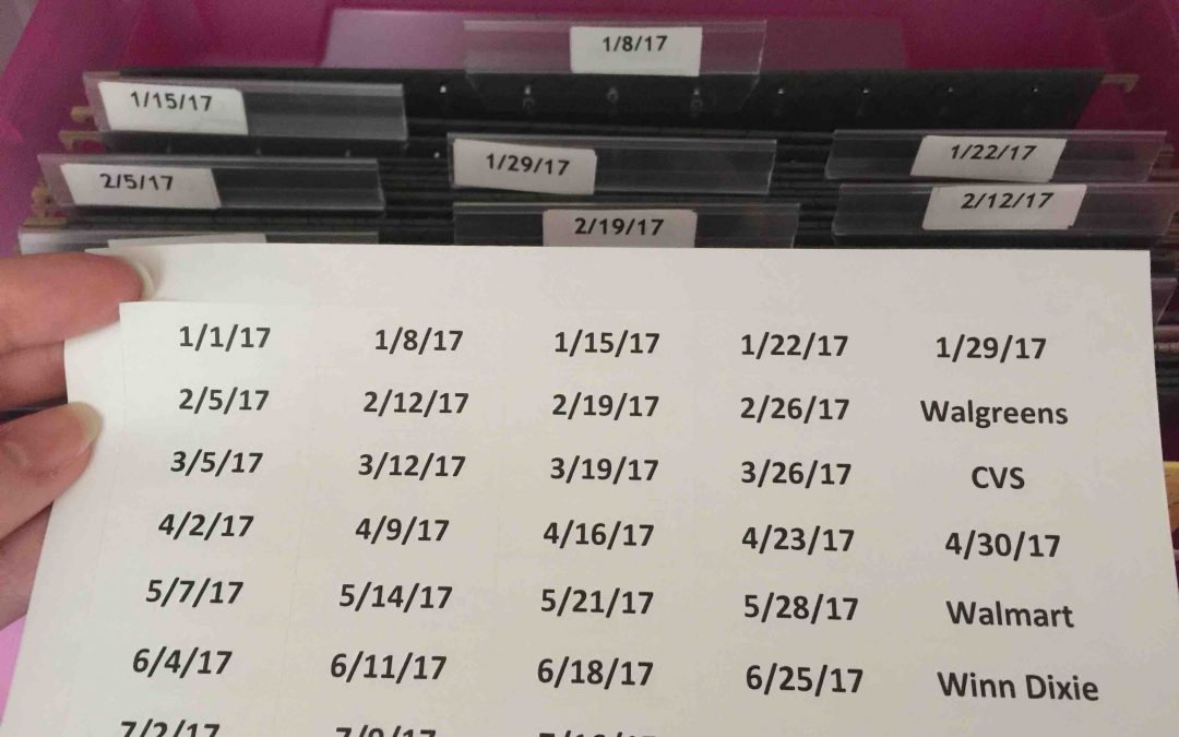 Perfect Date Tabs for Your Coupon File