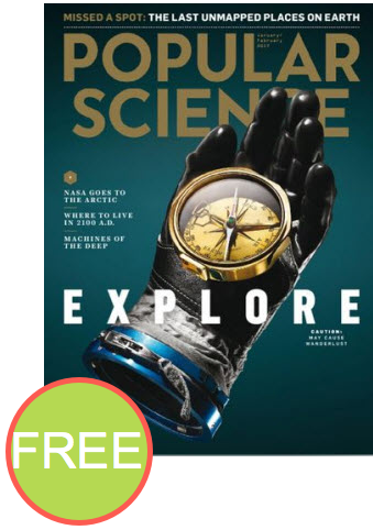 FREE Annual Subscription to Popular Science Magazine! {$47 Value}