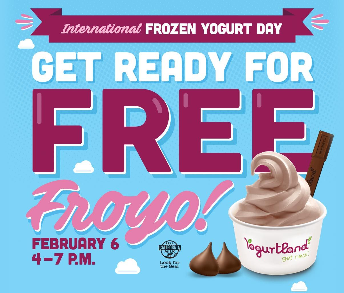 FREE Frozen Yogurt from Yogurtland TODAY ONLY from 4pm to 7pm!