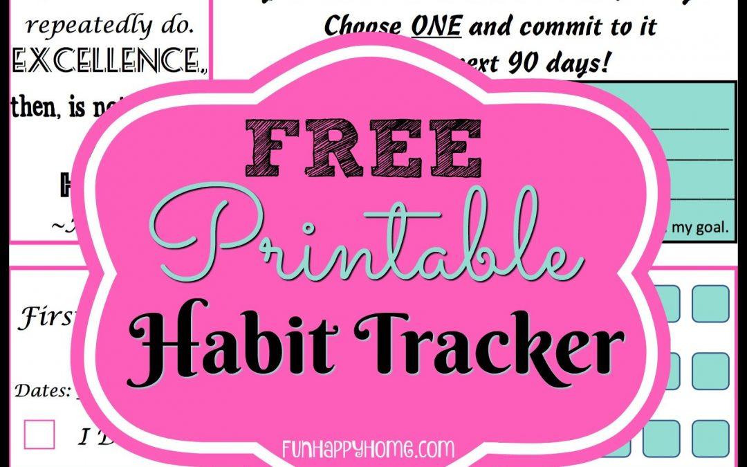 FREE Habit Tracking Printable!