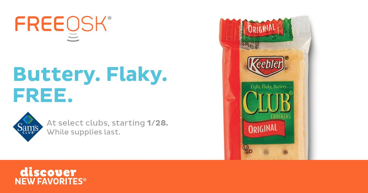 FREE Keebler Club Crackers at Sam's Club!