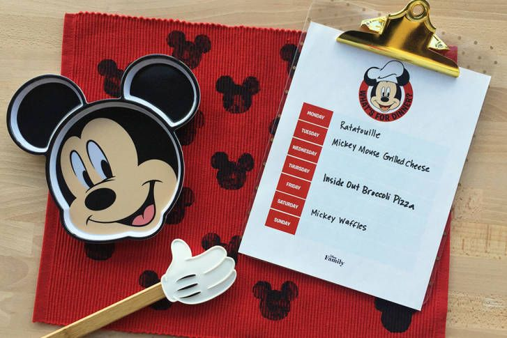 FREE Mickey Mouse Weekly Menu Printable!