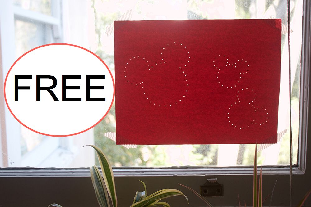 FREE Mickey Mouse Push Pin Art Printable!