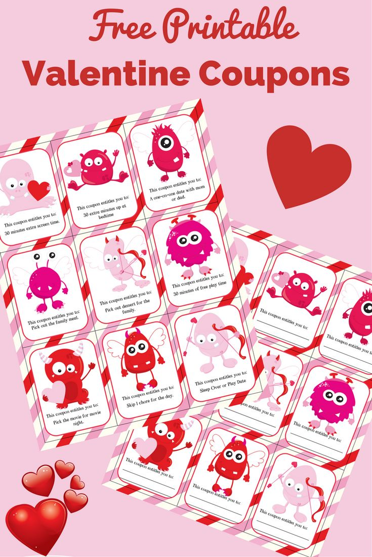 FREE Valentine Coupons for Kids!