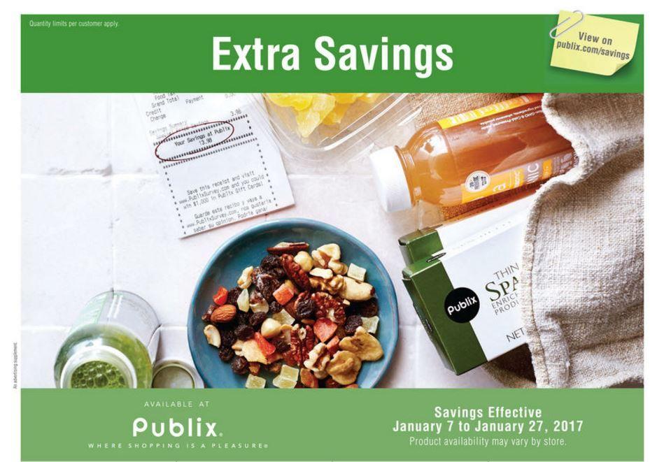 Publix Green Grocery Advantage Flyer 1 7 1 27