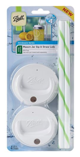 ball jar sip and straw lids 1-9