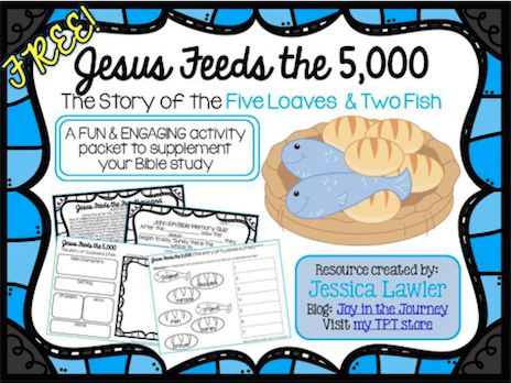 FREE Jesus Feeds the 5,000 Unit Printable!