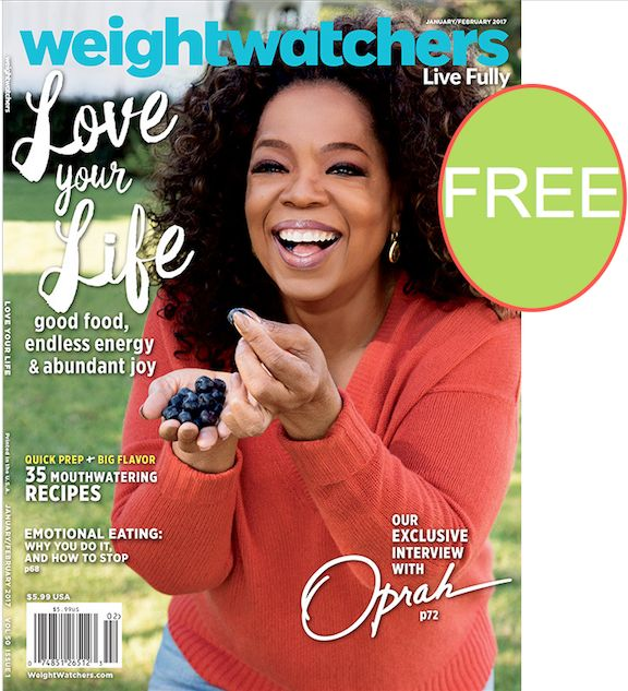 **Update: All Gone** FREE Annual Subscription to Weight Watchers Magazine!