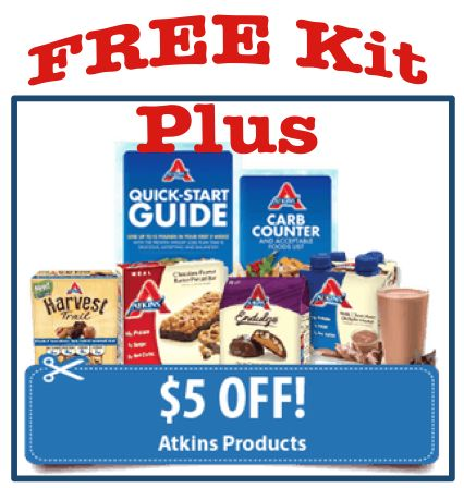 FREE Atkins Quick Start Kit + $5 Coupons!