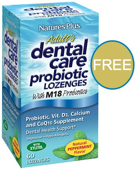 FREE Natures Plus Adults Dental Care Probiotic Lozenges!