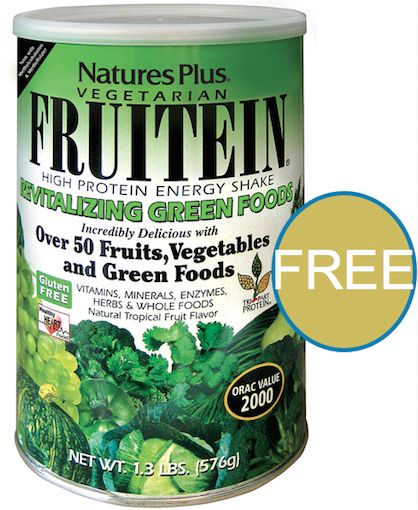 FREE Nature's Plus Fruitein Revitalizing Green Foods Shake!