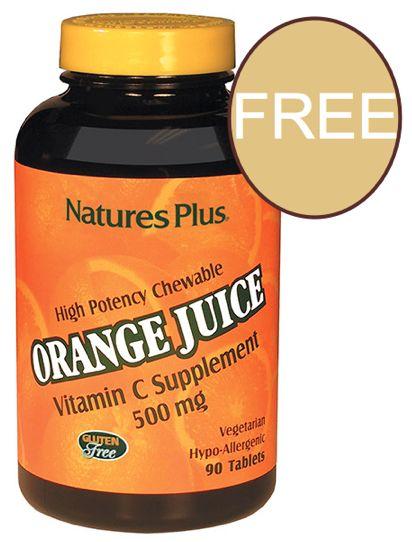 FREE Nature's Plus Orange Juice Chewable Vitamin!