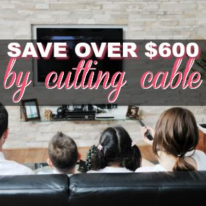 How We Saved $604 By Cutting Cable! {And Still Have Too Much TV To Watch!}