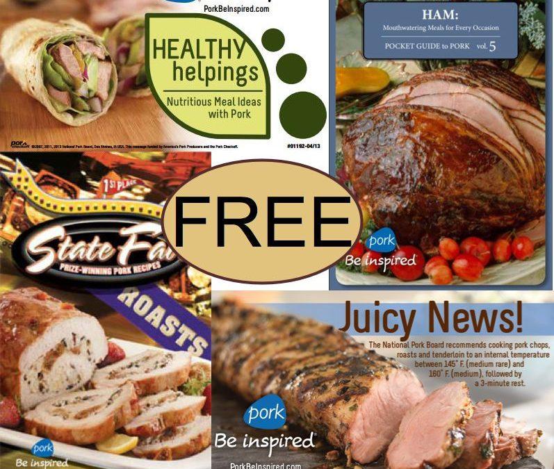 FOUR FREE Pork Recipe Booklets!