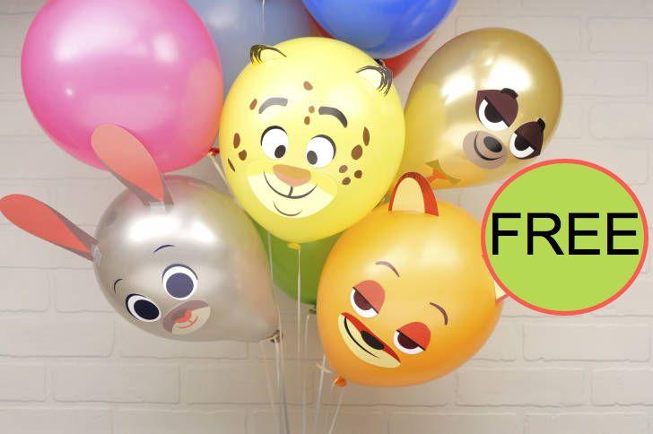 FREE DIY Zootopia Party Balloons!