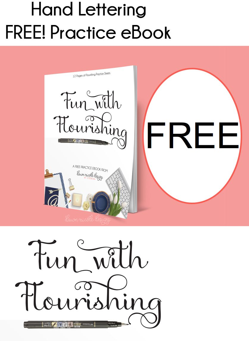 FREE Hand Lettering Practice eBook!
