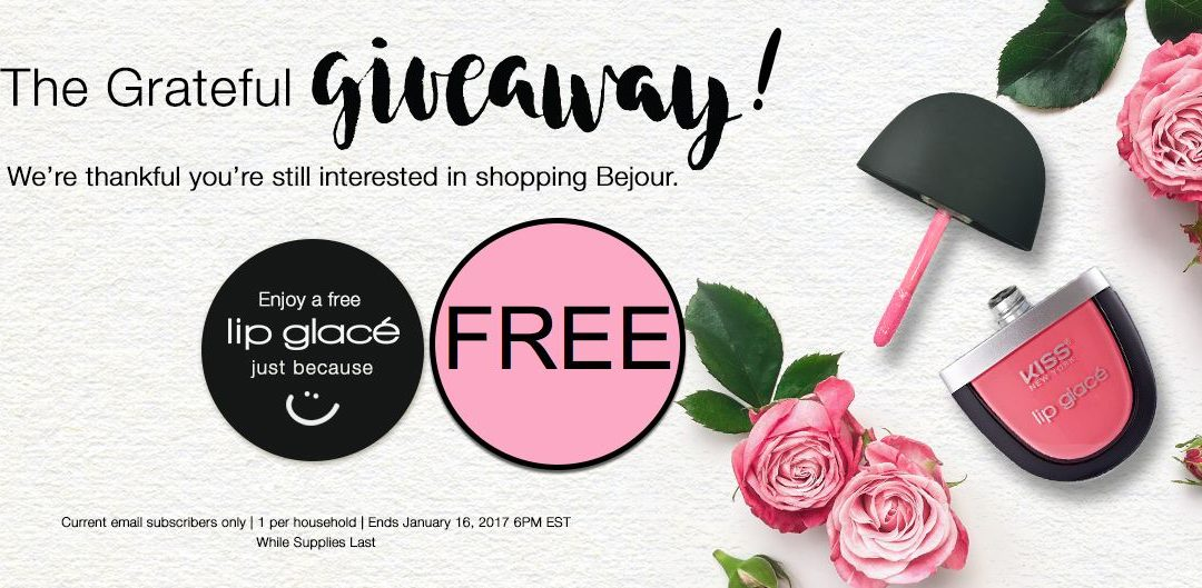 FREE Lip Glace from Bonjour!