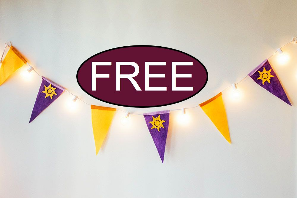 FREE Tangled Pennant Banner Printable!