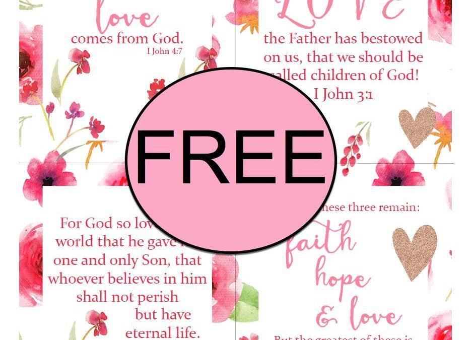 FREE Scripture LOVE Printable Cards!