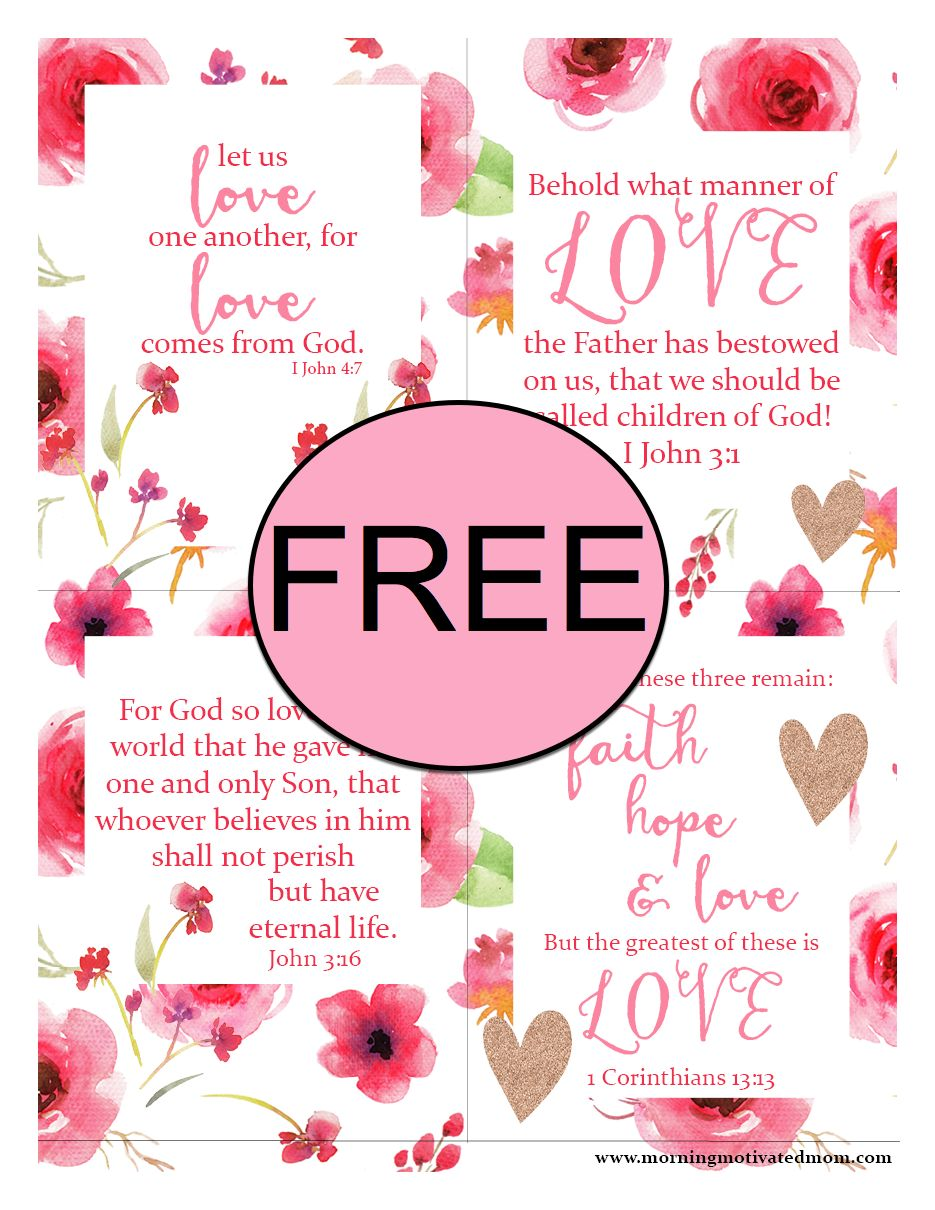 FREE Scripture LOVE Printable Cards!