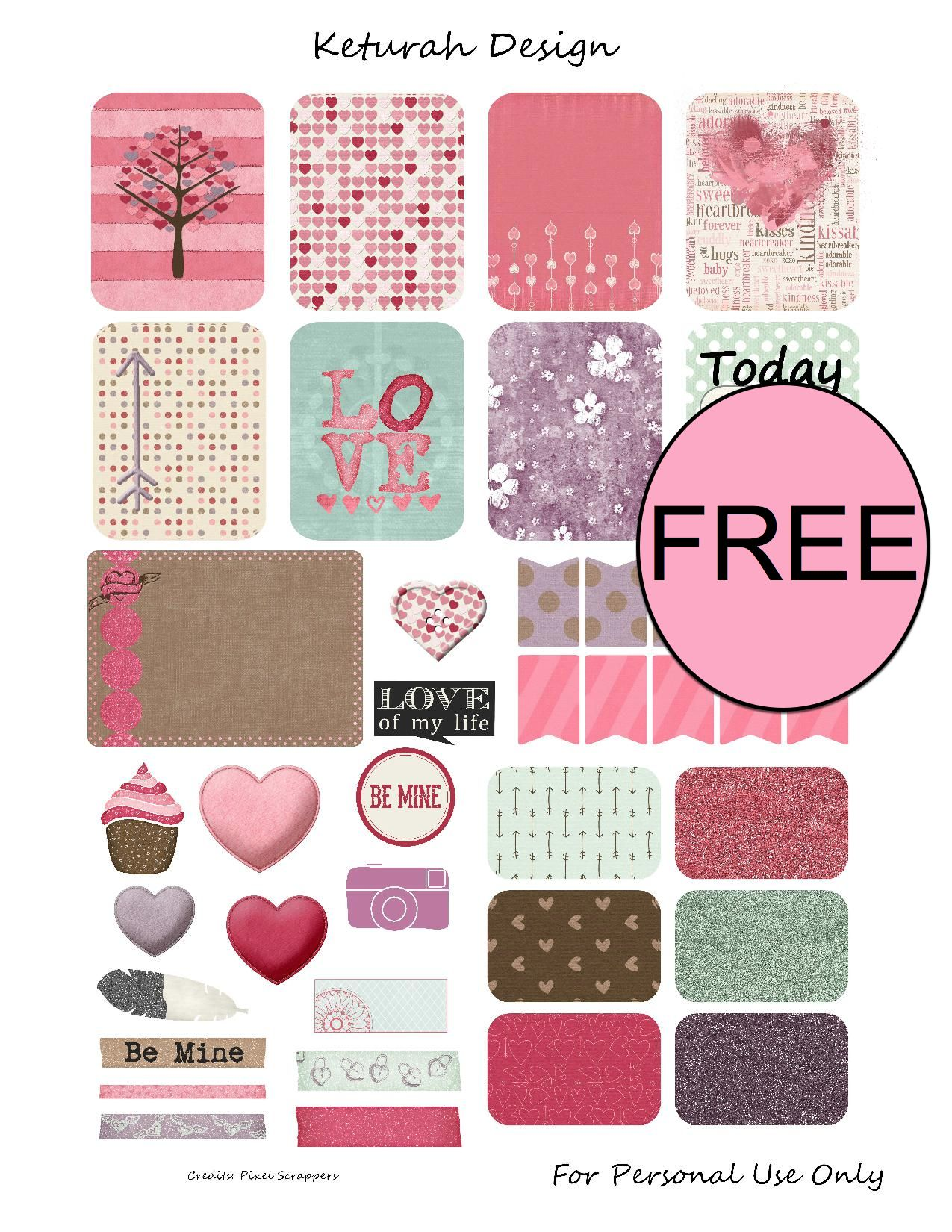 free valentines day printable planner stickers - Valentines Day Stickers