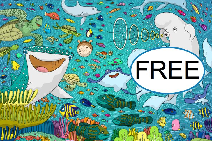 FREE Where's Dory Coloring Page!