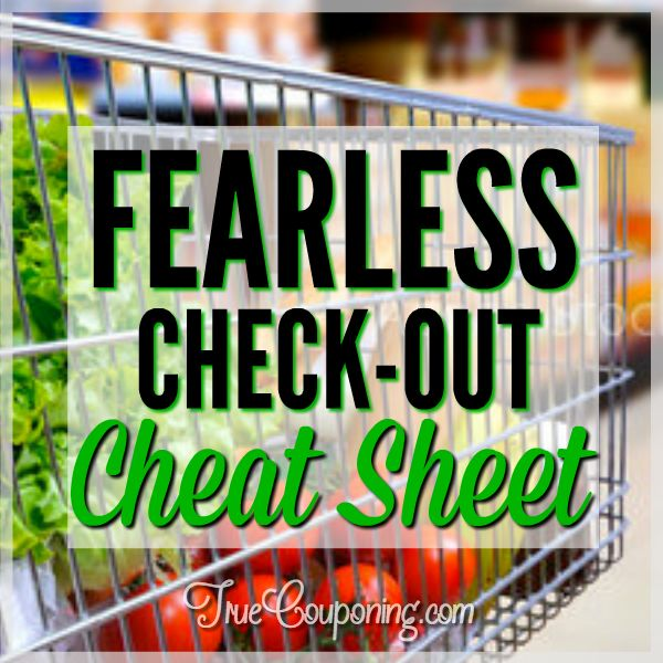 """Never Fear A Cashier Again With My """"Checkout Cheat Sheet"""" (FREE Download)"""