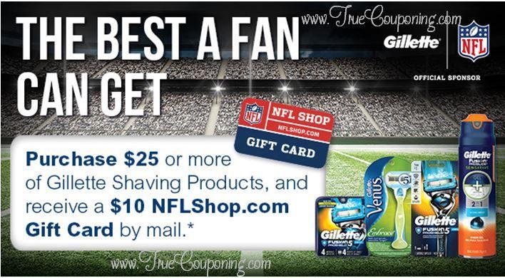 "Publix ""The Best A Fan Can Get"" Gillette FREE $10 NFL Shop Gift ..."
