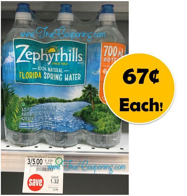 Fox Deal of the Week! 6-Pack Zephyrhills Sport Bottles 67¢ Total!! {That's Only $.11 each Bottle!}