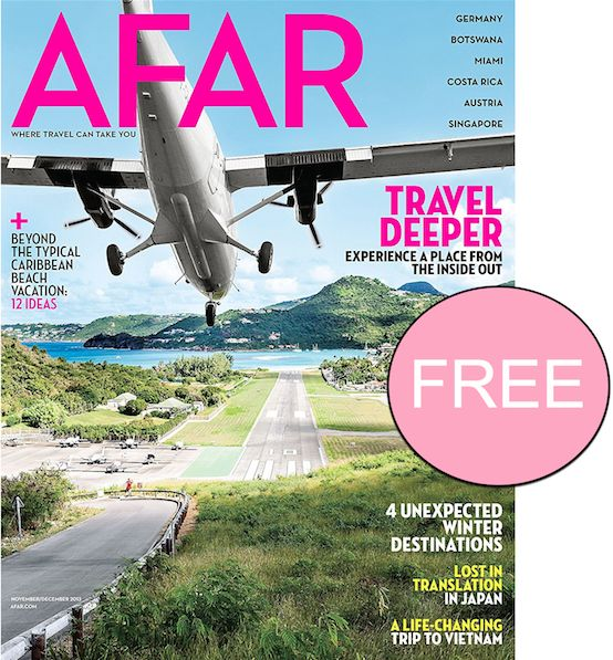 FREE Annual Subscription to Afar Magazine {$41 Value}!