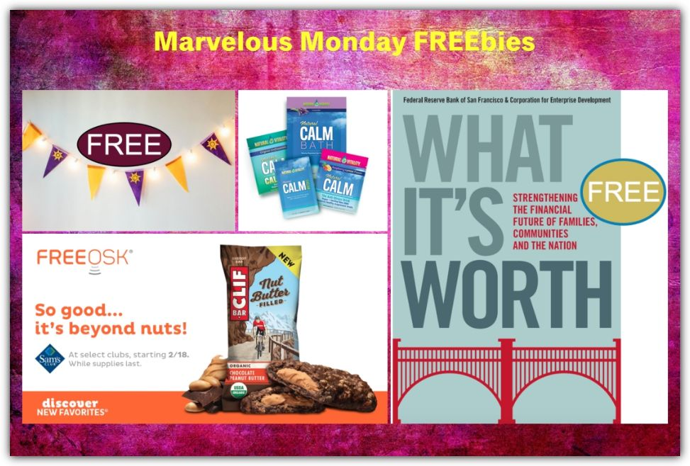 FOUR FREEbies: Clif Energy Bar at Sam's Club, Tangled Pennant Banner Printable, Natural Calm Products and What It's Worth eBook!