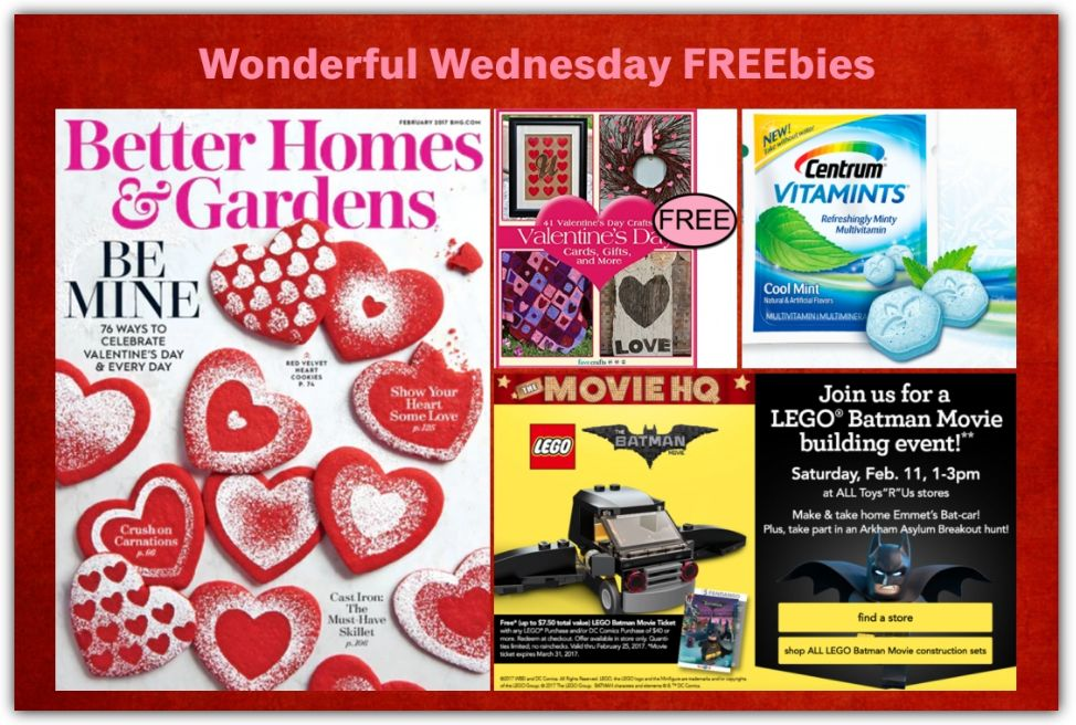 Four Freebies: Annual Subscription To Better Homes & Gardens