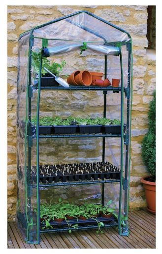 4-Tier Mini Greenhouse is Great for Small Spaces