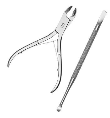 nail clippers and cuticle tool 2-3