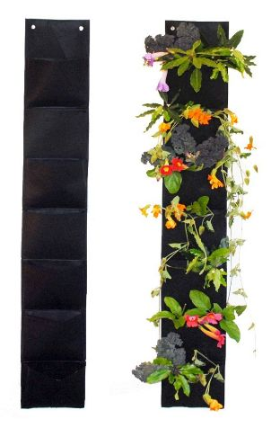 7 Pocket Vertical Hanging Planter