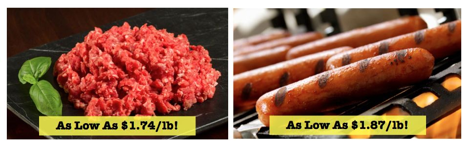We Have the Beef….for Less! Amazing Deals on Premium Ground Beef and Beef Hot Dogs RIGHT NOW!