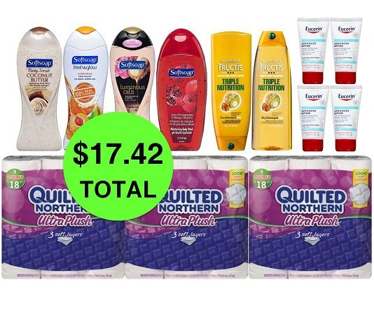 For Only $17.42 TOTAL, Get (2) Hair Care, (3) TP Double Roll 9 Packs, (4) Eucerin Lotions & (4) Body Washes This Week at CVS!