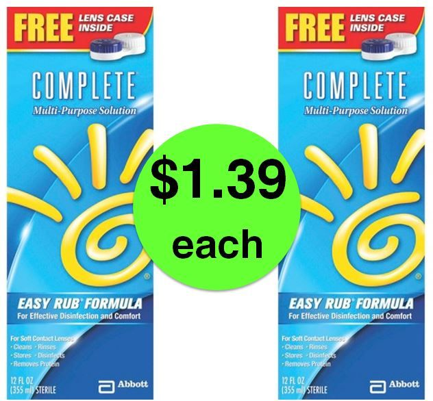 SCORE $1.39 Complete Contact Solution at Target! (Ends 5/19)