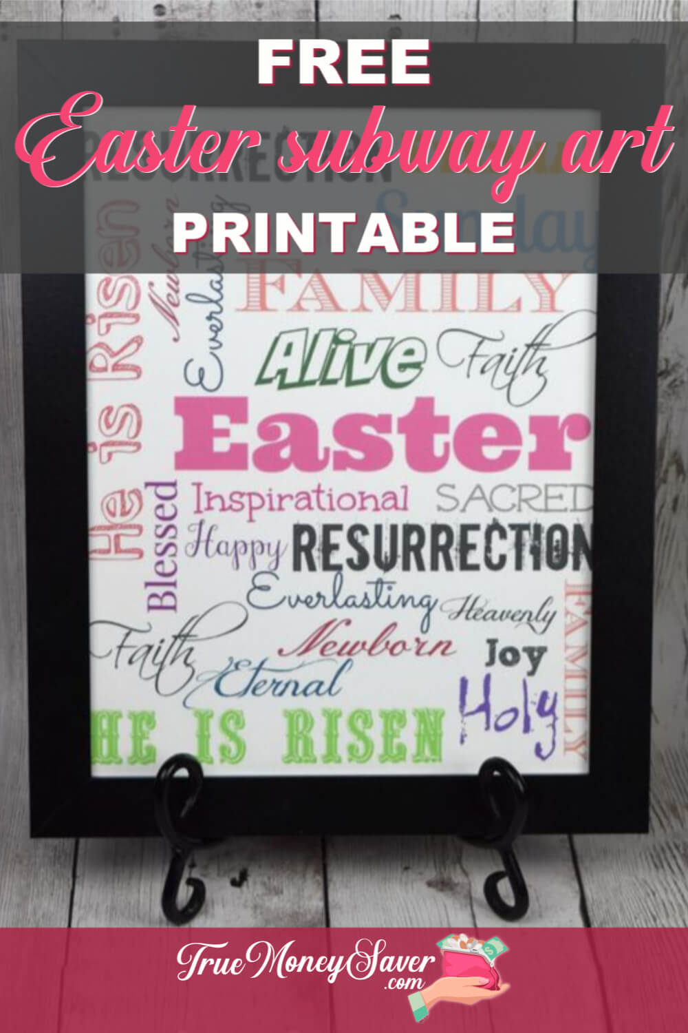 Ready to start your Easter art decor? Then grab this FREE Easter Subway Art Printable! FREE Easter printables are the best and cheapest way to spruce up your home for Easter! Print this today!