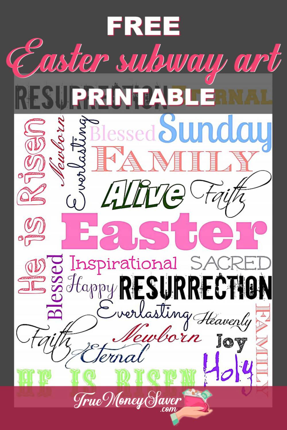 free Easter subway art printable