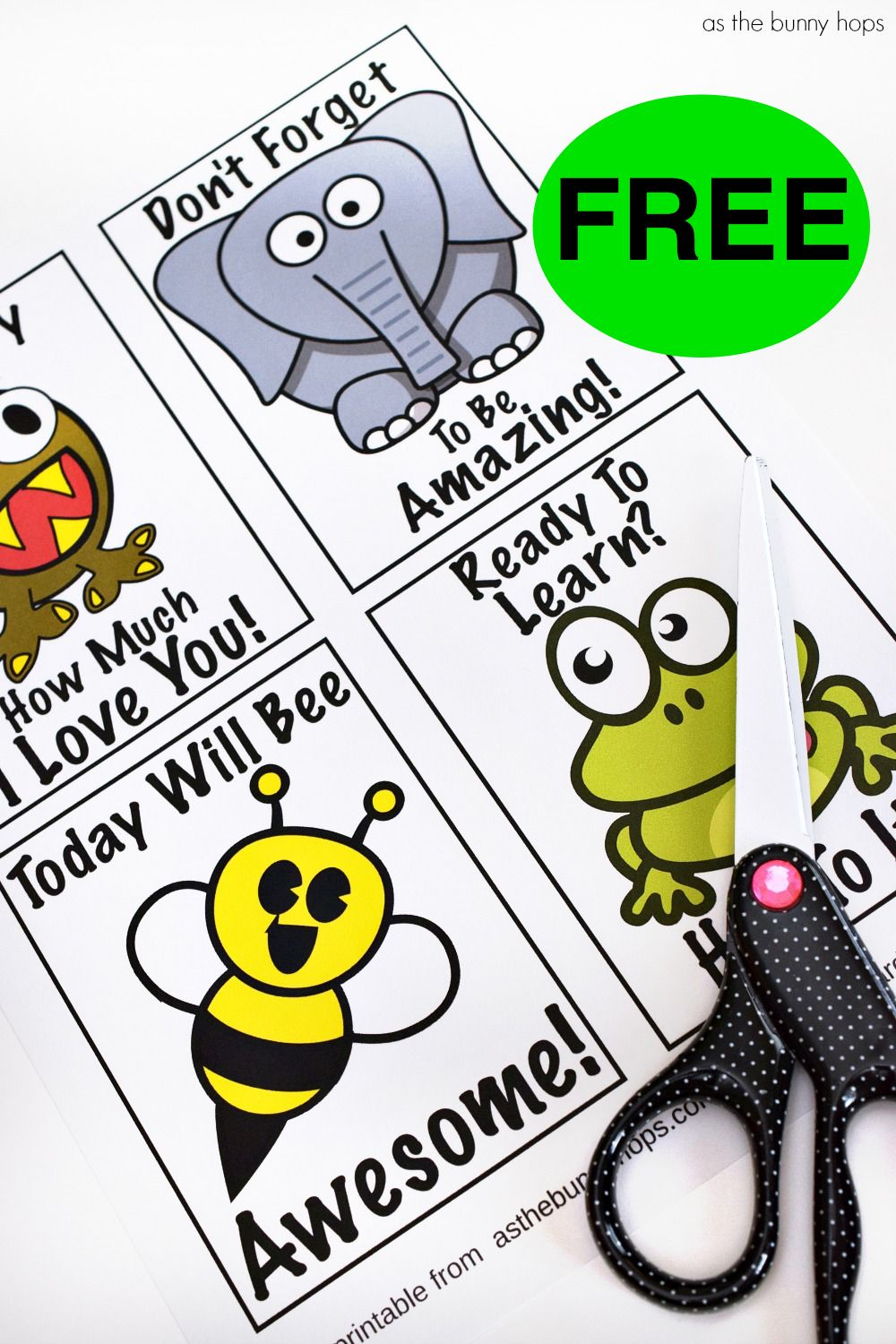 FREE Printable Lunchbox Notes!
