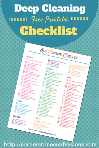 FREE Deep Cleaning Checklist Printable!