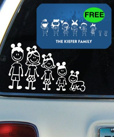 Don't Miss Out!! FREE Personalized Disney Family Car Decal! {Spread Some Family Disney Magic}