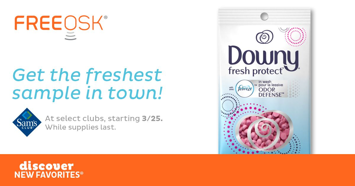 FREE Downy Fresh Protect at Sam's Club!