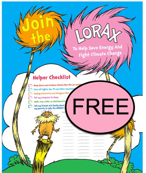 FREE Lorax Helper Checklist Printable!