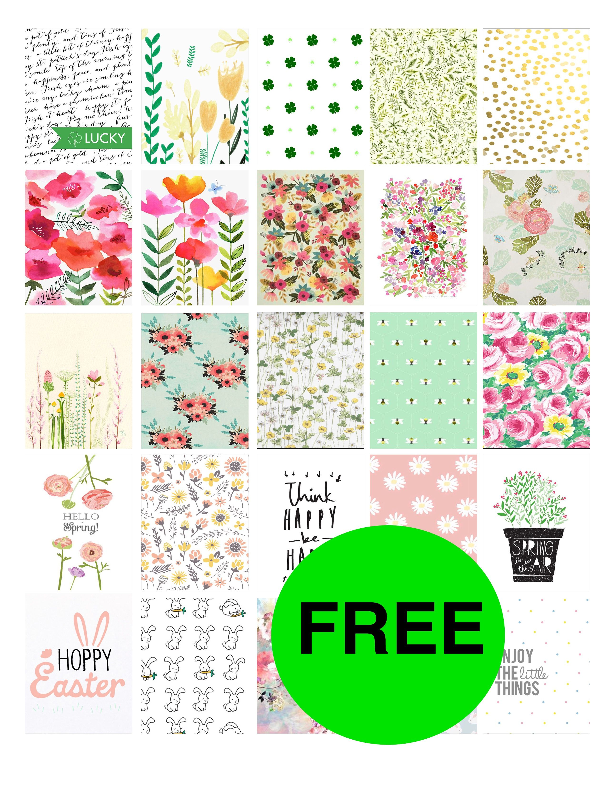 FREE Adorable Spring Planner Printables!