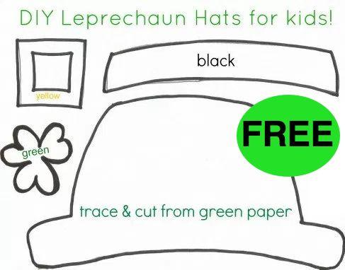 FREE St. Patrick's Day Hat Printable Craft!