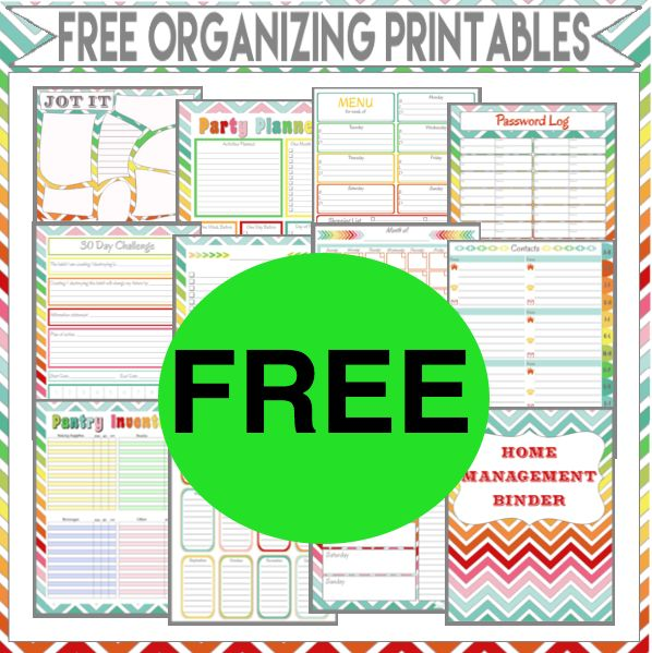 FREE Ultimate List of Organizing Printables!
