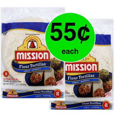 Don't Miss Mission Flour Tortillas For JUST $.55 Each at Publix! ~ Ends Tues/Weds!